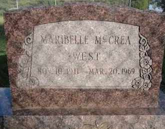 WEST, MARIBELLE - Muskogee County, Oklahoma | MARIBELLE WEST - Oklahoma Gravestone Photos