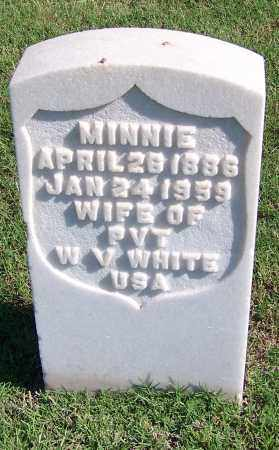 WHITE, MINNIE - Muskogee County, Oklahoma | MINNIE WHITE - Oklahoma Gravestone Photos