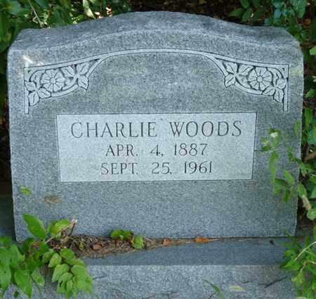 WOODS, CHARLIE - Muskogee County, Oklahoma | CHARLIE WOODS - Oklahoma Gravestone Photos