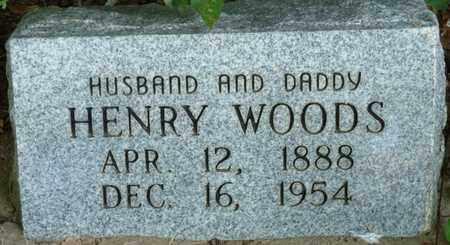 WOODS, HENRY - Muskogee County, Oklahoma   HENRY WOODS - Oklahoma Gravestone Photos