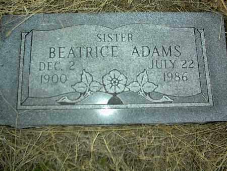 ADAMS, BEATRICE - Nowata County, Oklahoma | BEATRICE ADAMS - Oklahoma Gravestone Photos