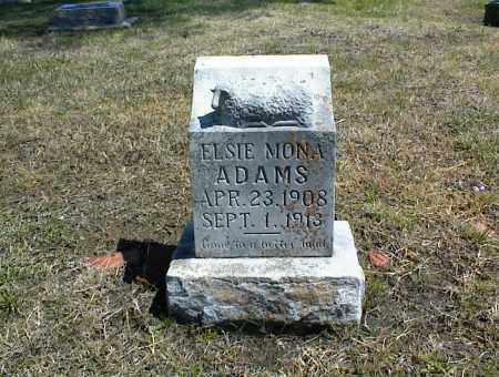 ADAMS, ELSIE MONA - Nowata County, Oklahoma | ELSIE MONA ADAMS - Oklahoma Gravestone Photos