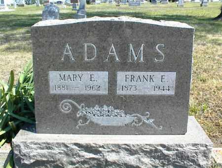ADAMS, FRANK E. - Nowata County, Oklahoma | FRANK E. ADAMS - Oklahoma Gravestone Photos