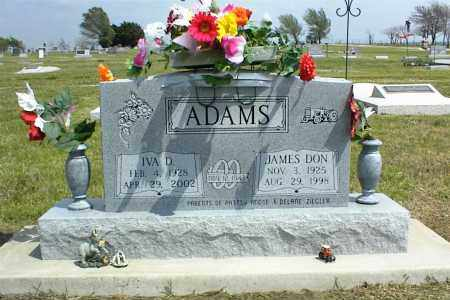 ADAMS, JAMES DON - Nowata County, Oklahoma | JAMES DON ADAMS - Oklahoma Gravestone Photos