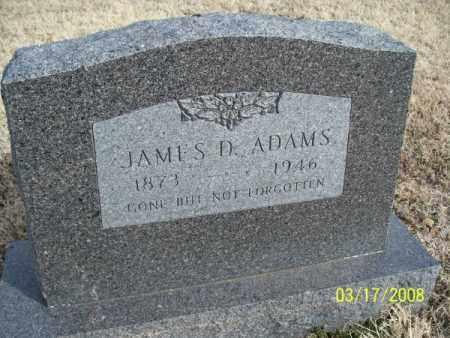 ADAMS, JAMES D. - Nowata County, Oklahoma   JAMES D. ADAMS - Oklahoma Gravestone Photos