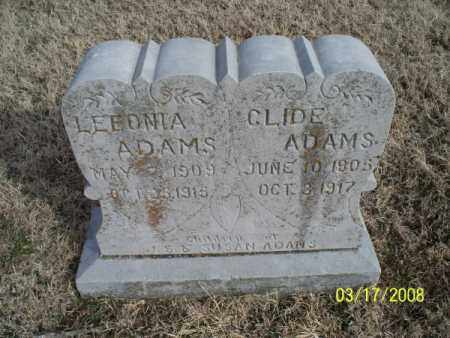 ADAMS, CLIDE - Nowata County, Oklahoma | CLIDE ADAMS - Oklahoma Gravestone Photos