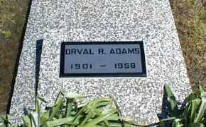 ADAMS, ORVAL R. - Nowata County, Oklahoma | ORVAL R. ADAMS - Oklahoma Gravestone Photos