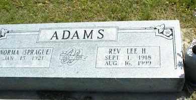 ADAMS, REV. LEE H. - Nowata County, Oklahoma | REV. LEE H. ADAMS - Oklahoma Gravestone Photos