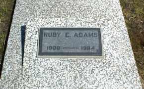ADAMS, RUBY E. - Nowata County, Oklahoma   RUBY E. ADAMS - Oklahoma Gravestone Photos
