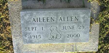 ALLEN, AILEEN - Nowata County, Oklahoma | AILEEN ALLEN - Oklahoma Gravestone Photos