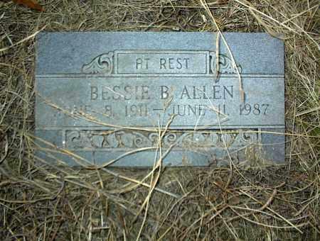 ALLEN, BESSIE B. - Nowata County, Oklahoma | BESSIE B. ALLEN - Oklahoma Gravestone Photos