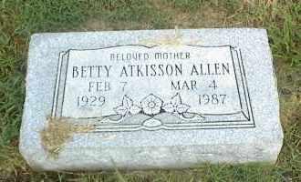 ALLEN, BETTY - Nowata County, Oklahoma   BETTY ALLEN - Oklahoma Gravestone Photos
