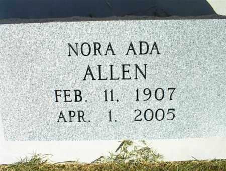 ALLEN, DORA ADA - Nowata County, Oklahoma   DORA ADA ALLEN - Oklahoma Gravestone Photos