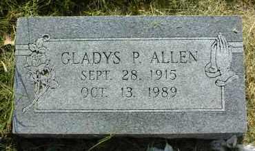 ALLEN, GLADYS P. - Nowata County, Oklahoma   GLADYS P. ALLEN - Oklahoma Gravestone Photos