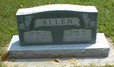 ALLEN, WILMA E. - Nowata County, Oklahoma | WILMA E. ALLEN - Oklahoma Gravestone Photos