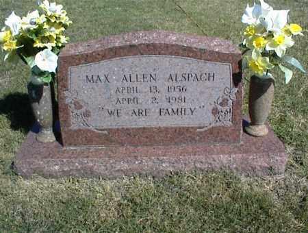 ALSPACH, MAX ALLEN - Nowata County, Oklahoma | MAX ALLEN ALSPACH - Oklahoma Gravestone Photos