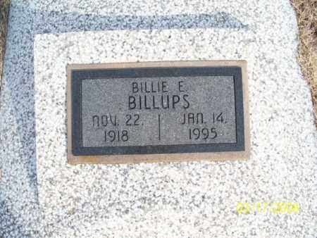 BILLUPS, BILLIE E. - Nowata County, Oklahoma   BILLIE E. BILLUPS - Oklahoma Gravestone Photos