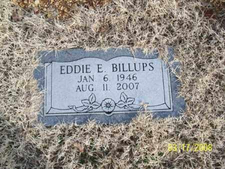 BILLUPS, EDDIE E. - Nowata County, Oklahoma   EDDIE E. BILLUPS - Oklahoma Gravestone Photos