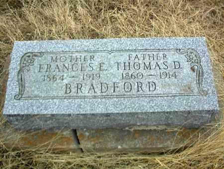 BRADFORD, THOMAS D. - Nowata County, Oklahoma | THOMAS D. BRADFORD - Oklahoma Gravestone Photos