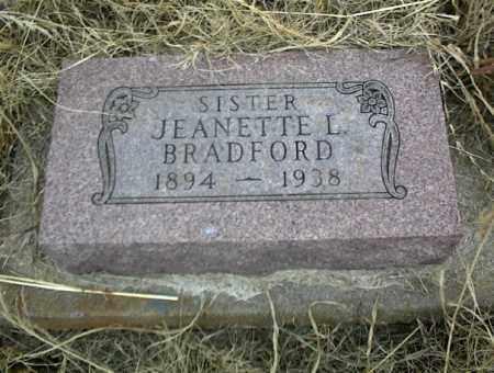 BRADFORD, JEANETTE L. - Nowata County, Oklahoma | JEANETTE L. BRADFORD - Oklahoma Gravestone Photos