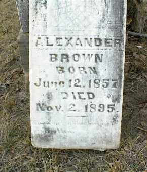 BROWN, ALEXANDER - Nowata County, Oklahoma | ALEXANDER BROWN - Oklahoma Gravestone Photos