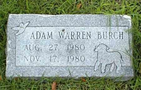 BURCH, ADAM WARREN - Nowata County, Oklahoma | ADAM WARREN BURCH - Oklahoma Gravestone Photos