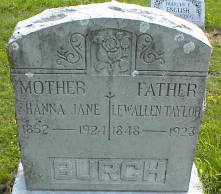BURCH, HANNA JANE - Nowata County, Oklahoma | HANNA JANE BURCH - Oklahoma Gravestone Photos