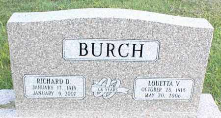 BURCH, LOUETTA V. - Nowata County, Oklahoma | LOUETTA V. BURCH - Oklahoma Gravestone Photos