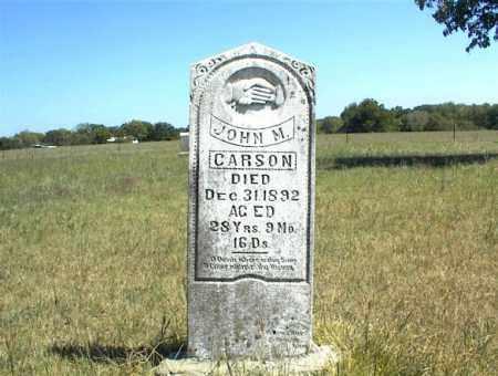 CARSON, JOHN M. - Nowata County, Oklahoma | JOHN M. CARSON - Oklahoma Gravestone Photos