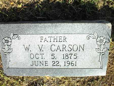 CARSON, W. V. - Nowata County, Oklahoma   W. V. CARSON - Oklahoma Gravestone Photos