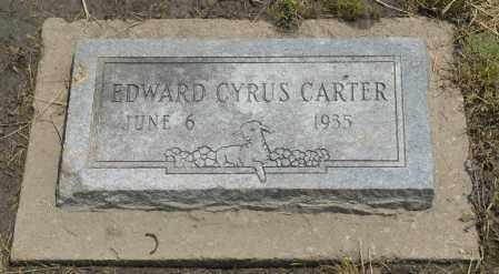 CARTER, EDWARD CYRUS - Nowata County, Oklahoma | EDWARD CYRUS CARTER - Oklahoma Gravestone Photos