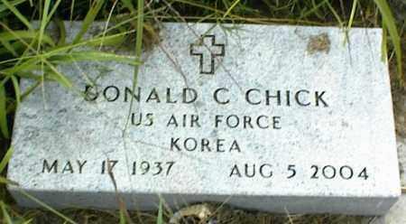 CHICK, DONALD C. - Nowata County, Oklahoma   DONALD C. CHICK - Oklahoma Gravestone Photos