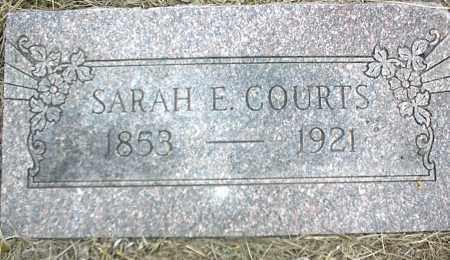 COURTS, SARAH E. - Nowata County, Oklahoma | SARAH E. COURTS - Oklahoma Gravestone Photos