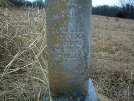 COX, SARAH A. - Nowata County, Oklahoma   SARAH A. COX - Oklahoma Gravestone Photos