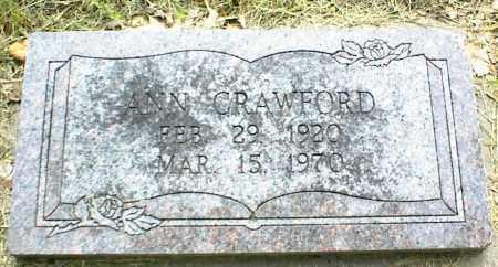 CRAWFORD, ANN - Nowata County, Oklahoma | ANN CRAWFORD - Oklahoma Gravestone Photos