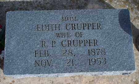 CRUPPER, EDITH - Nowata County, Oklahoma   EDITH CRUPPER - Oklahoma Gravestone Photos