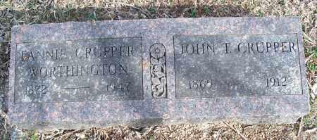 CRUPPER, JOHN T. - Nowata County, Oklahoma   JOHN T. CRUPPER - Oklahoma Gravestone Photos