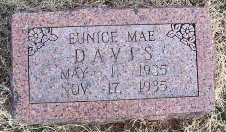 DAVIS, EUNICE MAE - Nowata County, Oklahoma | EUNICE MAE DAVIS - Oklahoma Gravestone Photos