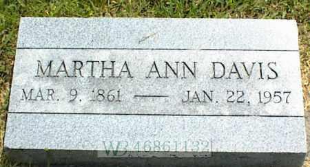 DAVIS, MARTHA ANN - Nowata County, Oklahoma | MARTHA ANN DAVIS - Oklahoma Gravestone Photos