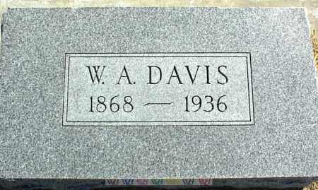 DAVIS, W. A. - Nowata County, Oklahoma | W. A. DAVIS - Oklahoma Gravestone Photos