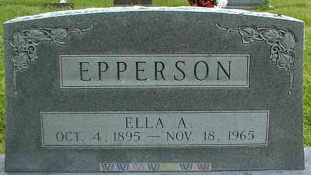 EPPERSON, ELLA A. - Nowata County, Oklahoma   ELLA A. EPPERSON - Oklahoma Gravestone Photos