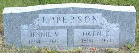 EPPERSON, JENNIE V. - Nowata County, Oklahoma | JENNIE V. EPPERSON - Oklahoma Gravestone Photos