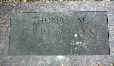 EPPERSON, THOMAS M. - Nowata County, Oklahoma | THOMAS M. EPPERSON - Oklahoma Gravestone Photos