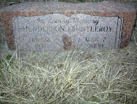 FAUNTLEROY, HENDERSON - Nowata County, Oklahoma | HENDERSON FAUNTLEROY - Oklahoma Gravestone Photos
