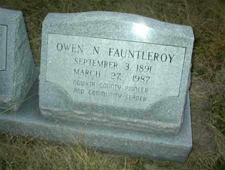 FAUNTLEROY, OWEN N. - Nowata County, Oklahoma | OWEN N. FAUNTLEROY - Oklahoma Gravestone Photos