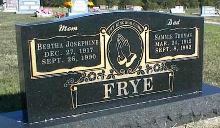 FRYE, BERTHA JOSEPHINE - Nowata County, Oklahoma   BERTHA JOSEPHINE FRYE - Oklahoma Gravestone Photos
