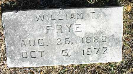 FRYE, WILLIAM T. - Nowata County, Oklahoma | WILLIAM T. FRYE - Oklahoma Gravestone Photos
