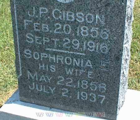 GIBSON, J. P. - Nowata County, Oklahoma | J. P. GIBSON - Oklahoma Gravestone Photos