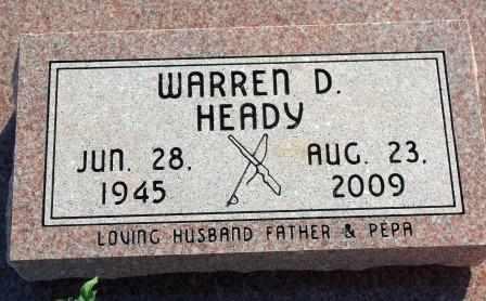 HEADY, WARREN D - Nowata County, Oklahoma | WARREN D HEADY - Oklahoma Gravestone Photos