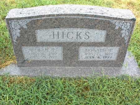 HICKS, DONALD P. - Nowata County, Oklahoma | DONALD P. HICKS - Oklahoma Gravestone Photos